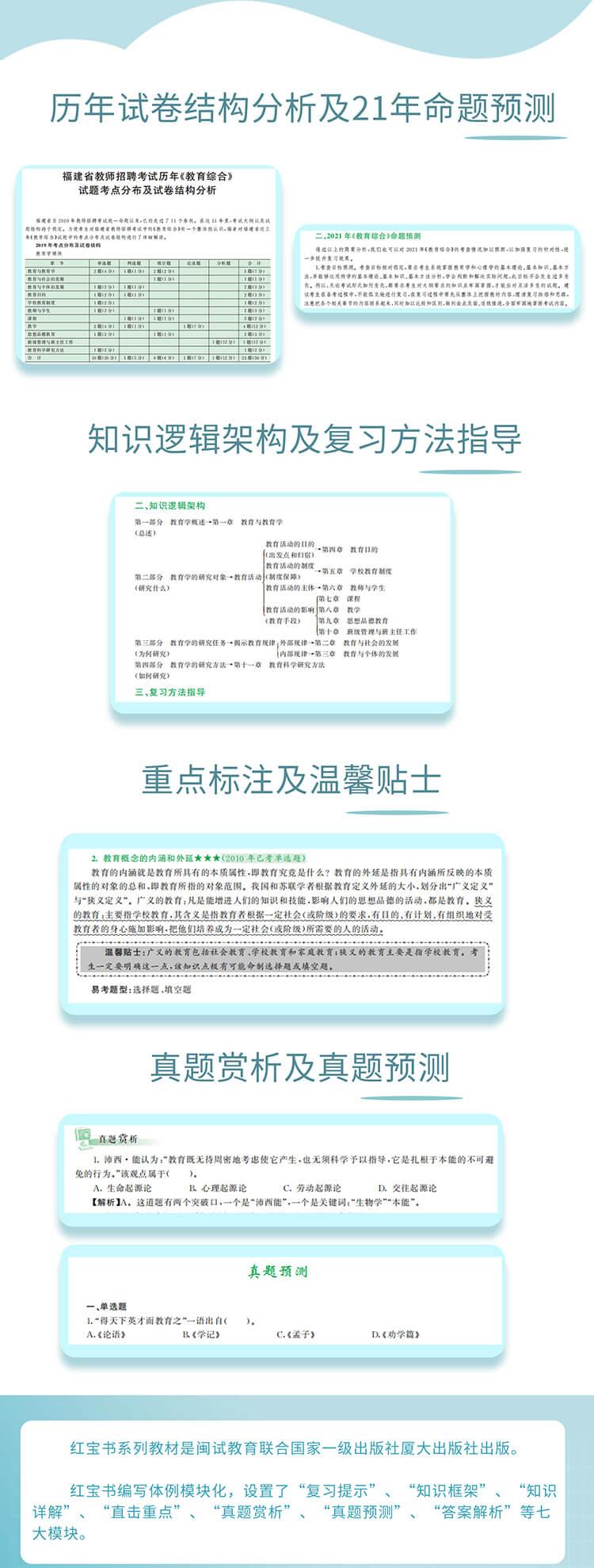 2021年福建教师招聘考试中小学教育综合考试大纲解析3