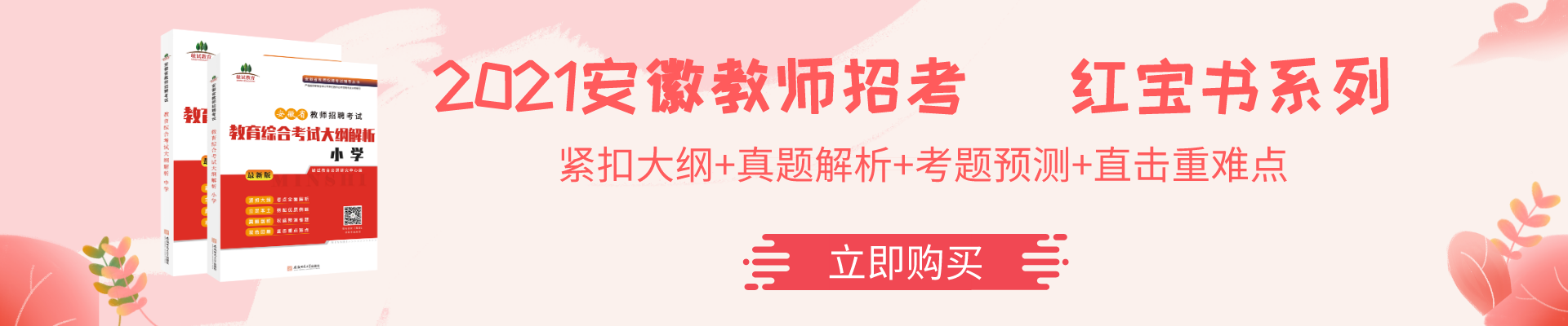 2021安徽教师招聘考试图书教材
